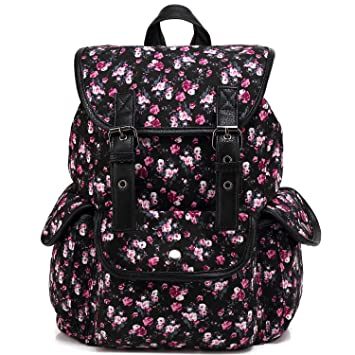 7d2904b911 Kenox Casual Style Canvas Travel School College Shoulder Bag Bookbags Daypack  for Teenage Girls
