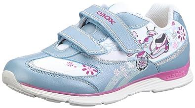 Mädchen J Top Fly Girl A Sneaker, Marine/Pink, 29 EU Geox