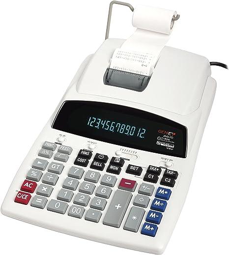 Genie 2045 PD - Calculadora de 12 dígitos, con impresora y ...
