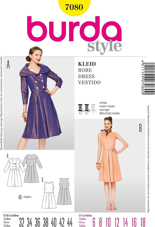Burda Modello Vestito con t?llrock Roll Colletto Gr 122/ /158