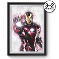 Iron Man Painting, Graffiti Avengers Infinity Wars Abstract Movie Posters, Marvel Universe Fine Art Giclee Prints, Gift Ideas for the Home