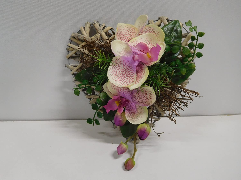 Rattanherz Orchideen Orchideengesteck T U Rdeko Tischgesteck