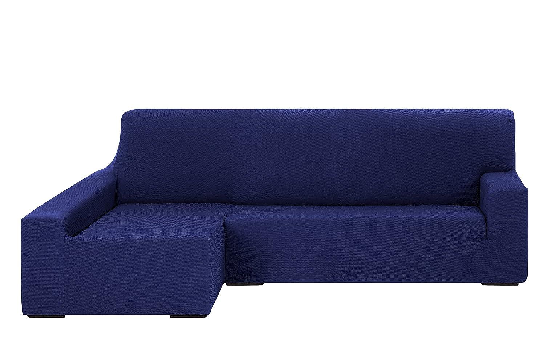 Schutzhülle Sofa elastisch Tunez Martina Home Chaisse Longue Brazo Izquierdo Marineblau