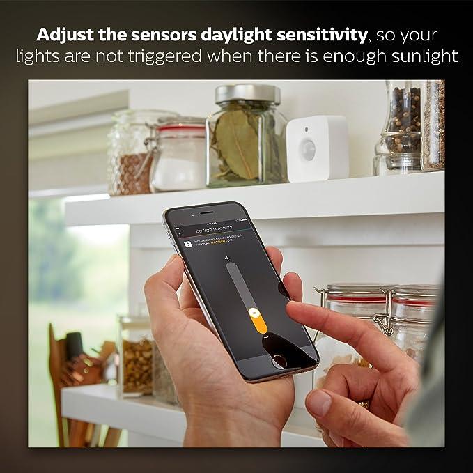 Philips 473389 Hue Sensor de movimiento inteligente (installation-free, exclusivo luces), color blanco: Amazon.es: Bricolaje y herramientas
