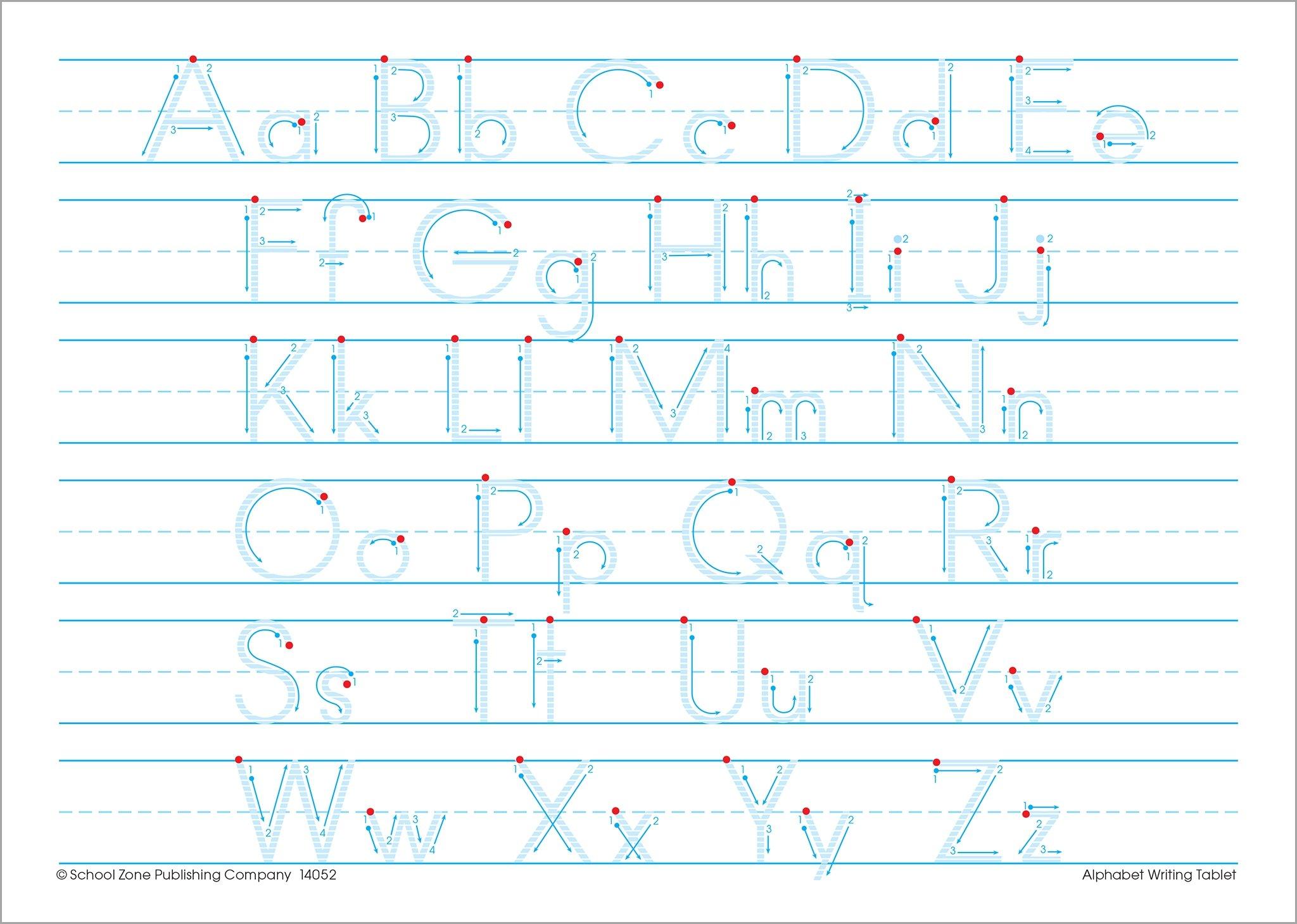 alphabet writing tablet school zone staff 9781681471129 amazon