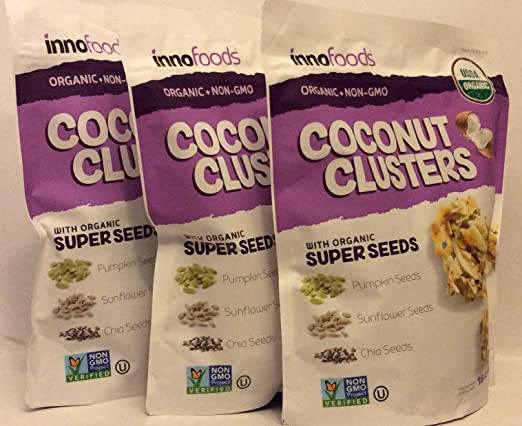 InnoFoods - Juego de 3 bolsas de coco con semillas orgánicas ...