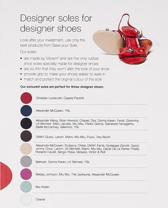 Amazon.com: Guardar su suela Negro Diseñador suelas para ...