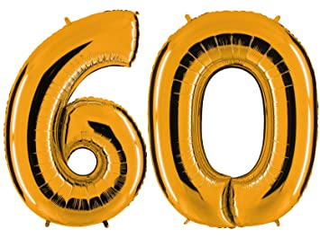 Globo de oro 60 - XXL gran número 100 cm 60A - para ...