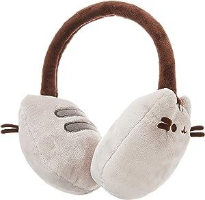 "GUND Pusheen Cat Plush Stuffed Animal Earmuffs, Gray, 8"""