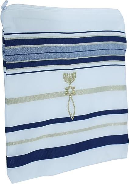 El Tallit - Manto (Mantón) de oración mesiánico - Talit con versículos dela Biblia/esquinas españolas