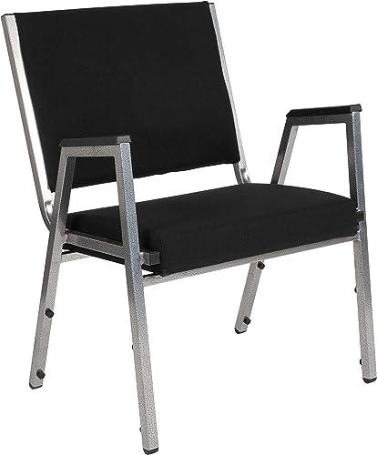 Flash Furniture HERCULES Series 1500 lb. Rated Black Antimicrobial Fabric Bariatric Medical Reception Arm Chair