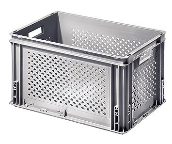 bas prix 6cde4 b8d4e Bac plastique ajouré gris 60 litres avec poignées: Amazon.fr ...