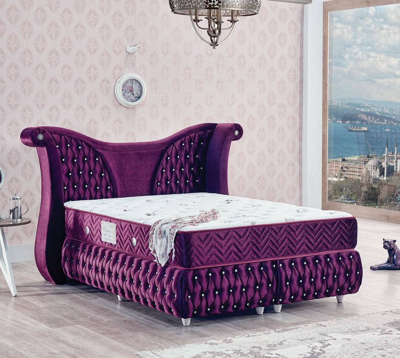 Cama de Designer con somier Hotel Cama Doble Cama (Cama Color ...