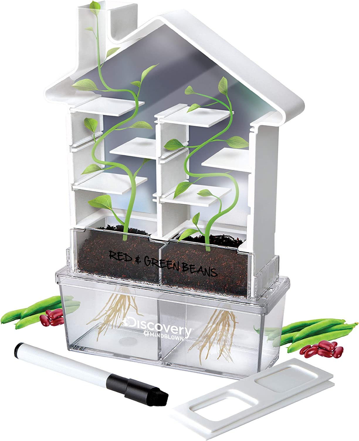 Discovery MINDBLOWN Maze Planter DIY Build & Grow Botany Kit, STEM Science Experiment for Kids, Fun Home Lab Sprout Phototropism Project for Boys and Girls, Window Garden Set for Learning Biology