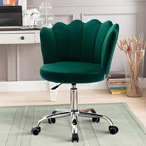 Recaceik Velvet Swivel Shell Chair