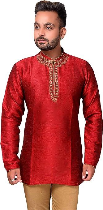 Desi Sarees Camiseta Corta Kurti para Hombre Traje Asiático De La Boda 2011: Amazon.es: Ropa y accesorios