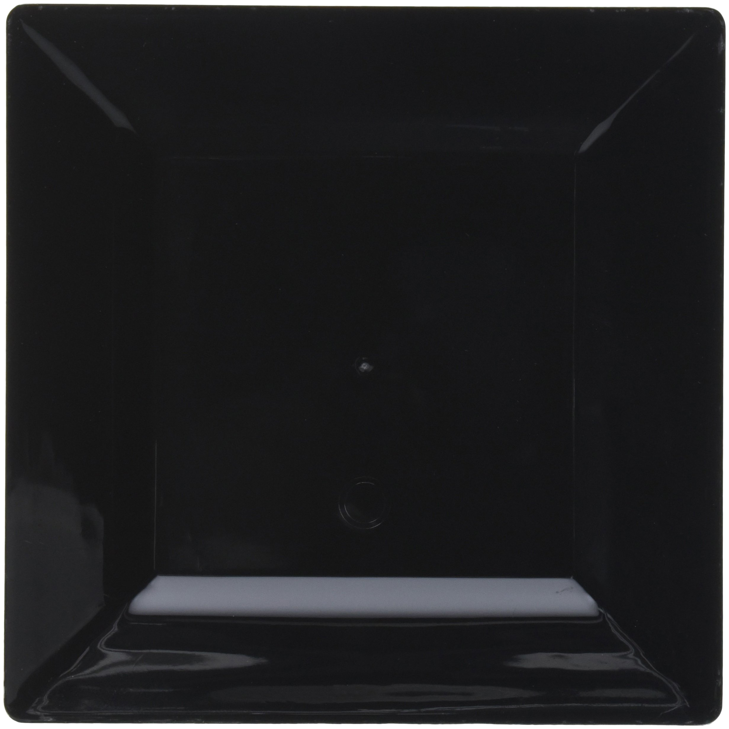 EMI Yoshi Koyal Square Dessert Plates, 6.5-Inch, Black, case of 12 sets of 10