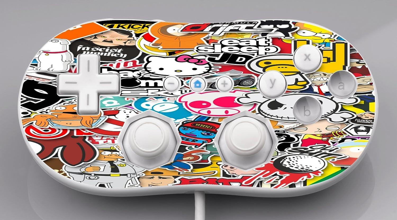 Popular Stickers, Sticker Bomb Wii Classic Controller Vinyl Decal Sticker Skin by This Mugs 4U