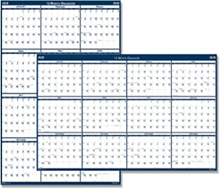 product image for HOD3961 - Poster Style Reversible/Erasable Yearly Wall Calendar