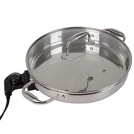 Amazon.com: CucinaPro - Sartén eléctrica de acero inoxidable ...