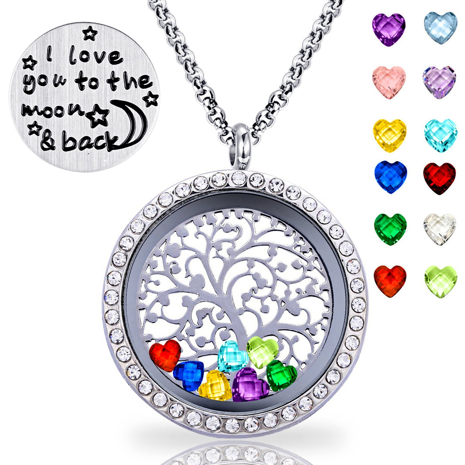 rainbow necklace lockets life of locket rb glowing tree tol products glowies glow jewelry