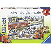 Ravensburger Busy Train Station Puzzle 2x24pc,Children's Puzzles