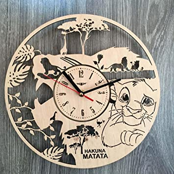 The Lion King Wall Clock Made Of WOOD   Perfect And Beautifully Cut    Decorate Your