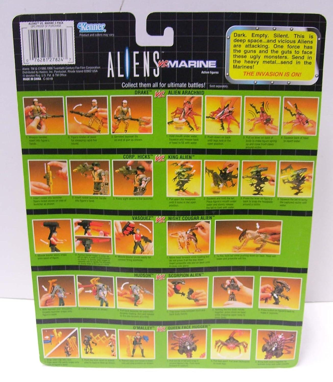 Aliens VS Marines OMalley VS Queen Face Hugger 10th Anniversary set 1986-1996 Kenner 27824