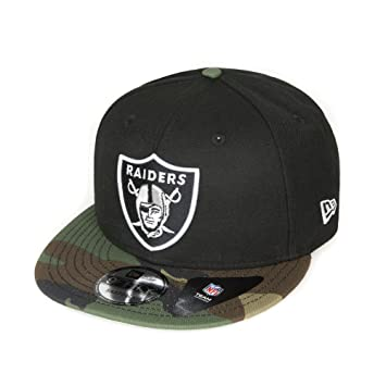 NewEraCapCompany New ERA – Oakland Raiders – Gorra 9 Fifty – Camuflaje  Negro – NFL Football bf59600a59f
