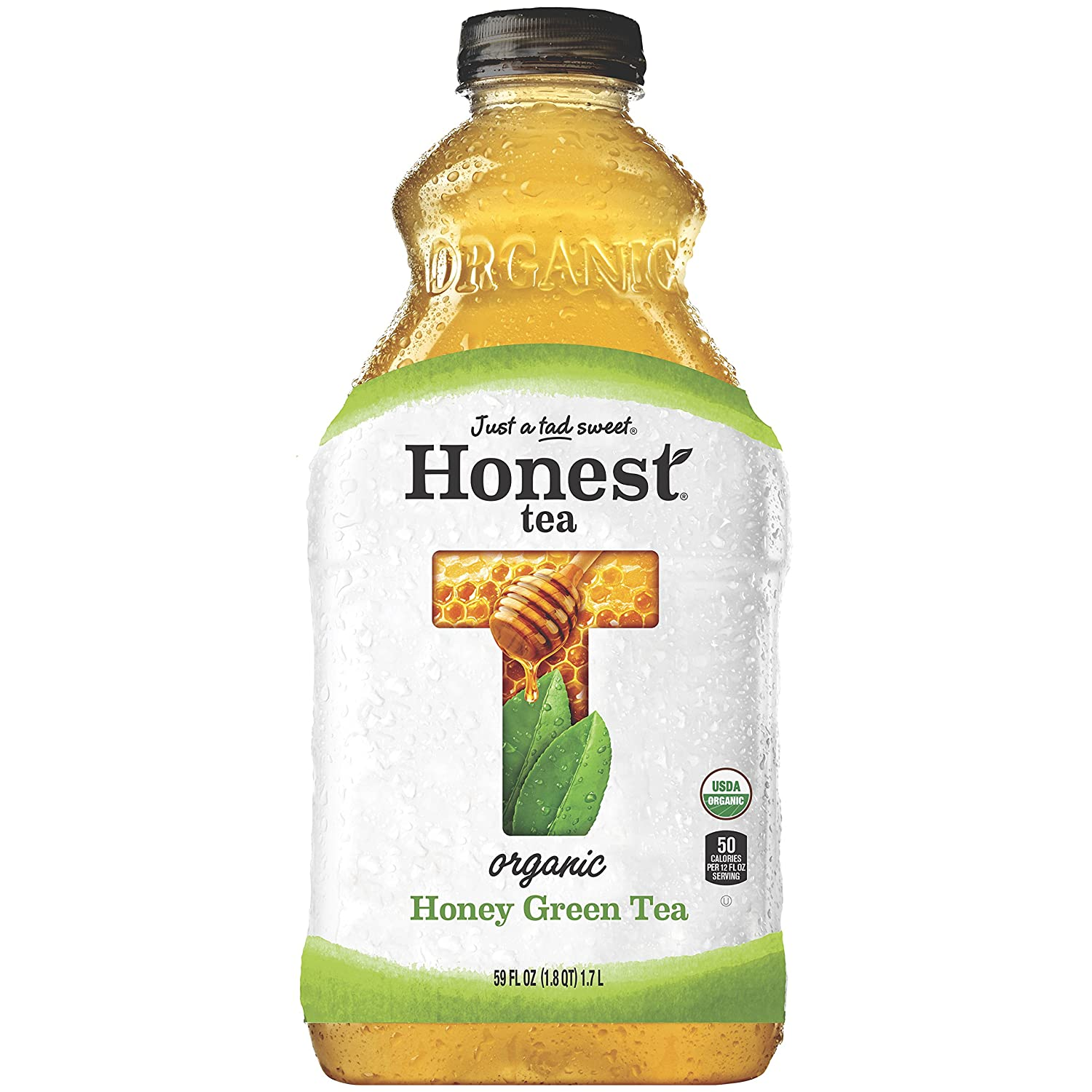 Honest Tea Organic Fair Trade Honey Green Gluten Free, 59 fl oz