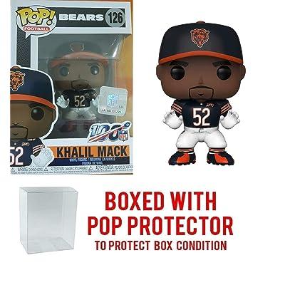 Pop NFL Khalil Mack Chicago Bears Home Jersey Vinyl Figure Bundled with Pop Shield Protector: Toys & Games