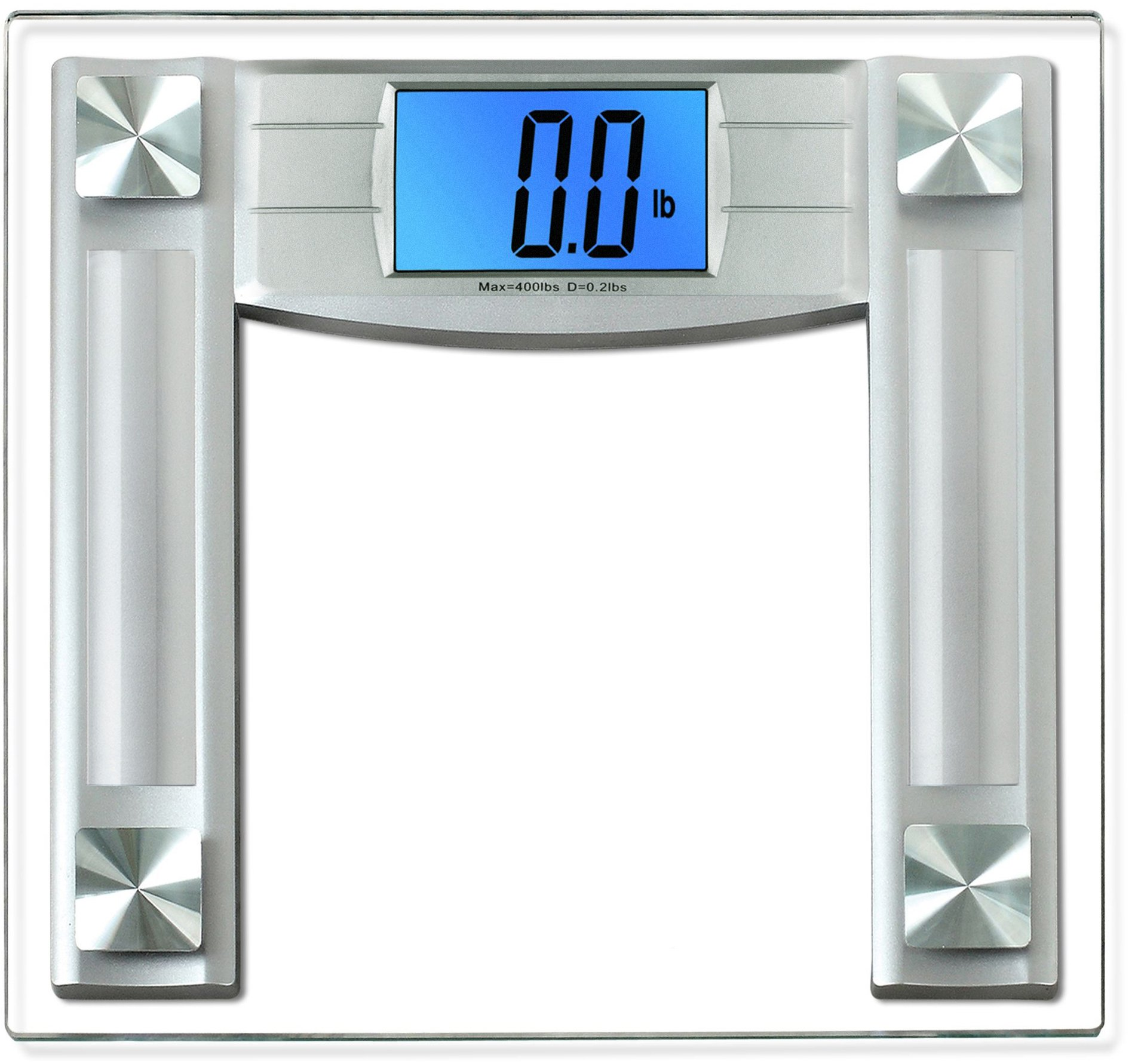 BalanceFrom Digital Body Weight Bathroom Scale with Step-On Technology and Backlight Display, 400 Pounds, Silver