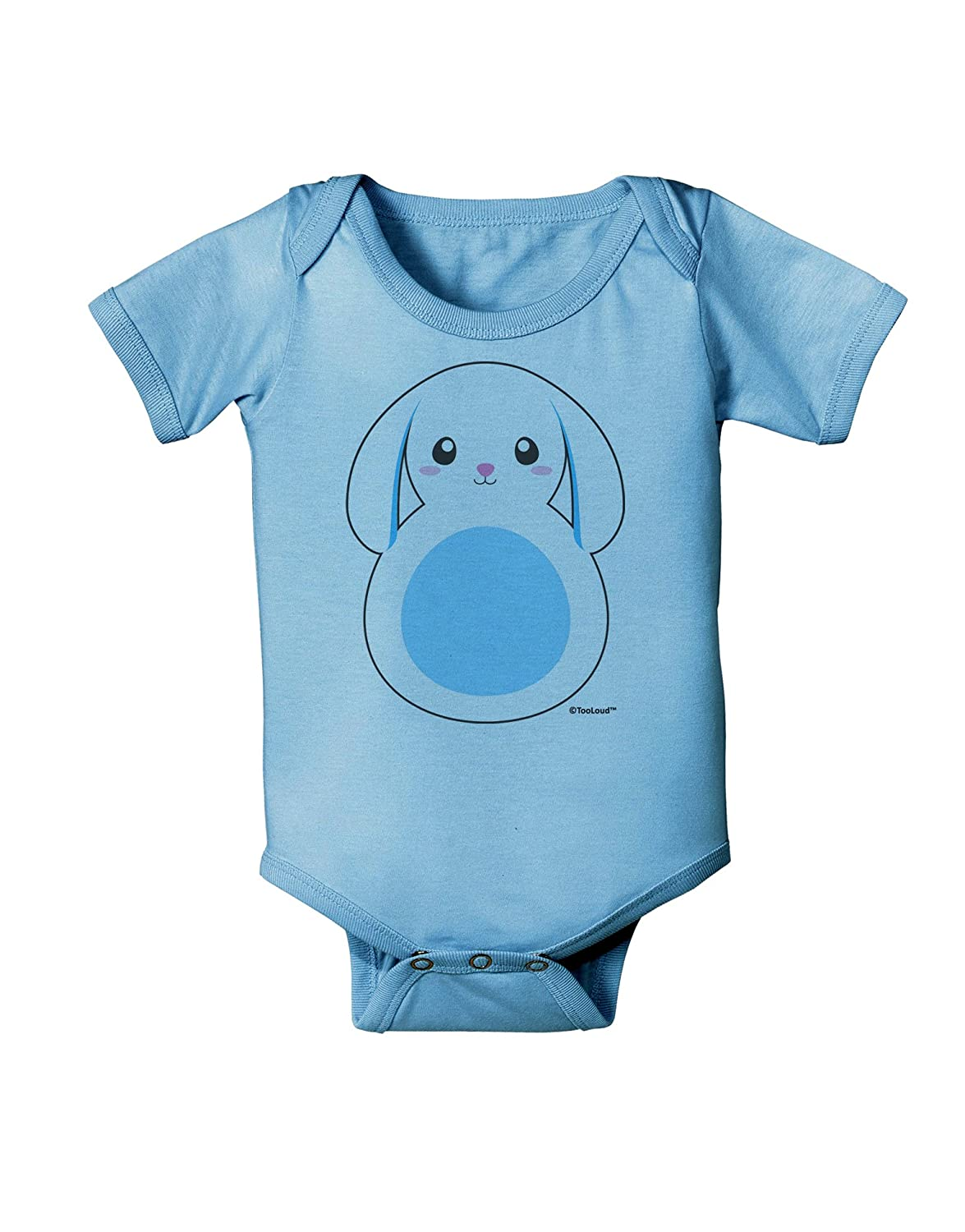 Blue Baby Romper Bodysuit TooLoud Cute Bunny with Floppy Ears