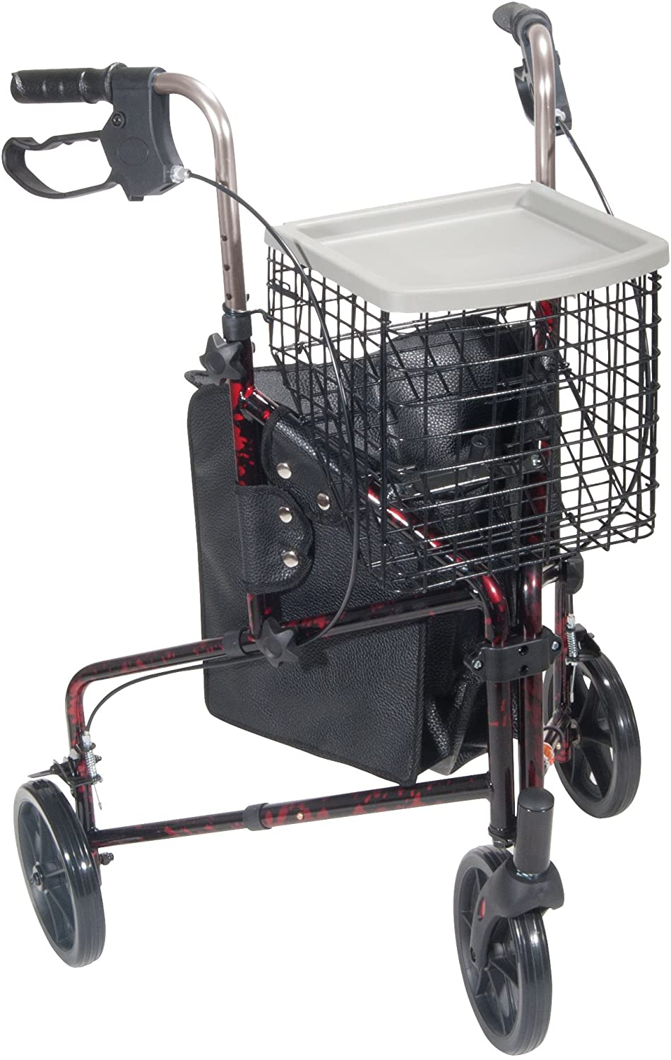 Drive Medical 3 Wheel Rollator, Flame Red 81fdeH9oUZLSL1500_