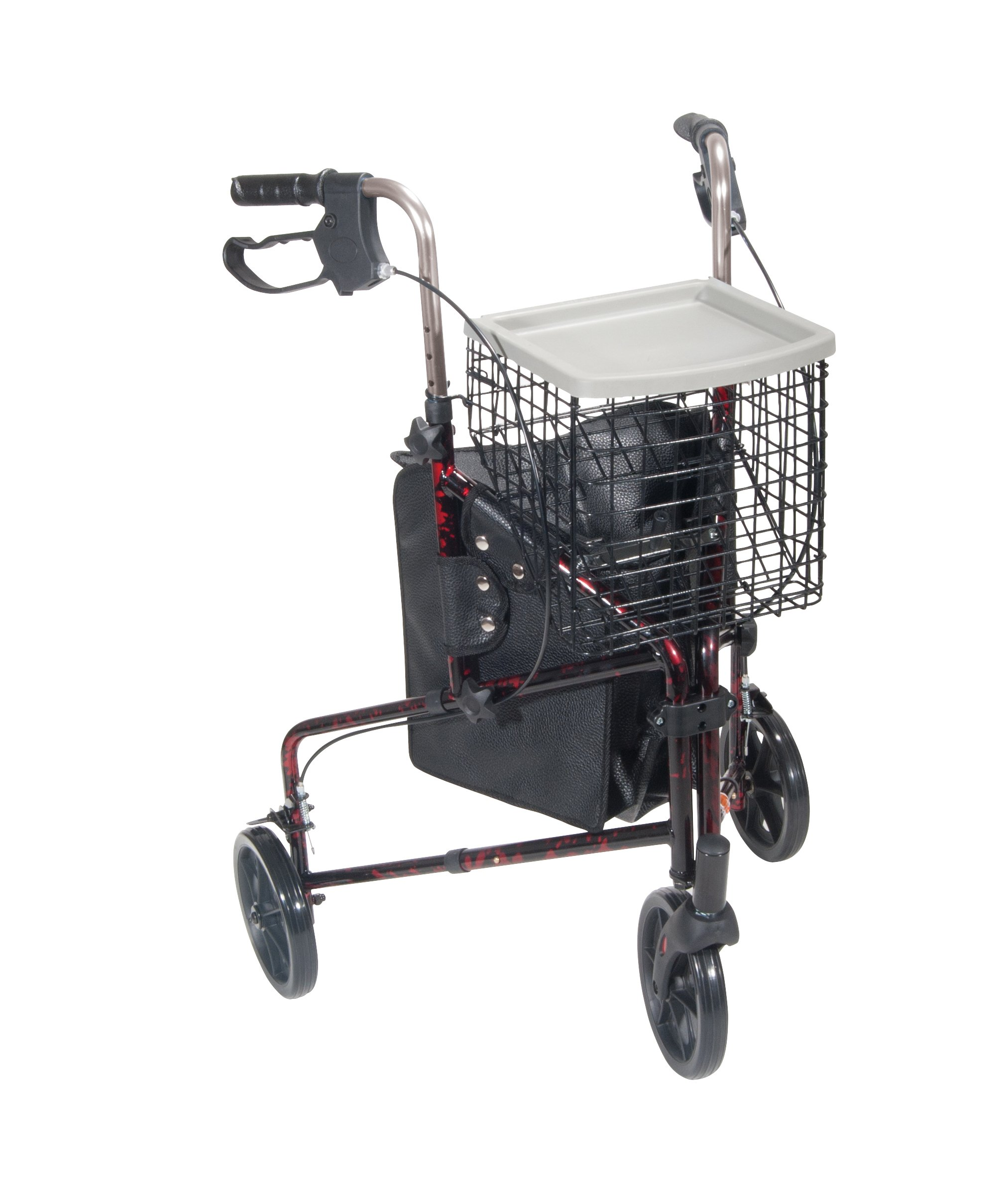 Drive Medical 3 Wheel Rollator, Flame Red by Drive Medical