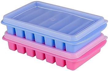Polar Vortex Mini Ice Cube bandejas + tapa – Botellas de Agua, nevera, dormitorio