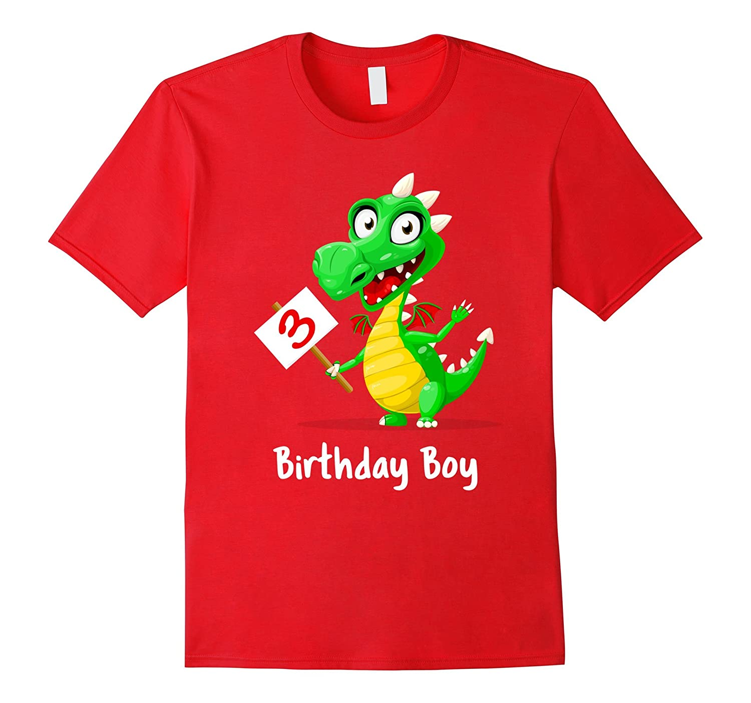 3rd Birthday Boy Dragon T Shirt-CD