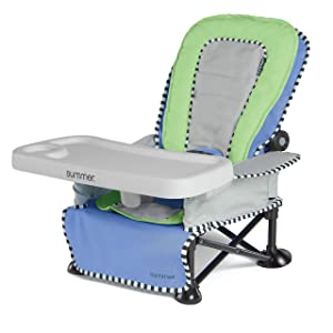 Summer Pop 'n Sit SE Recline Lounger, Sweet Life Edition, Blue Raspberry Color – Baby Lounger for Indoor/Outdoor Use, Grows with Baby and Can be a Floor and Booster Seat– Fast, Easy and Compact Fold