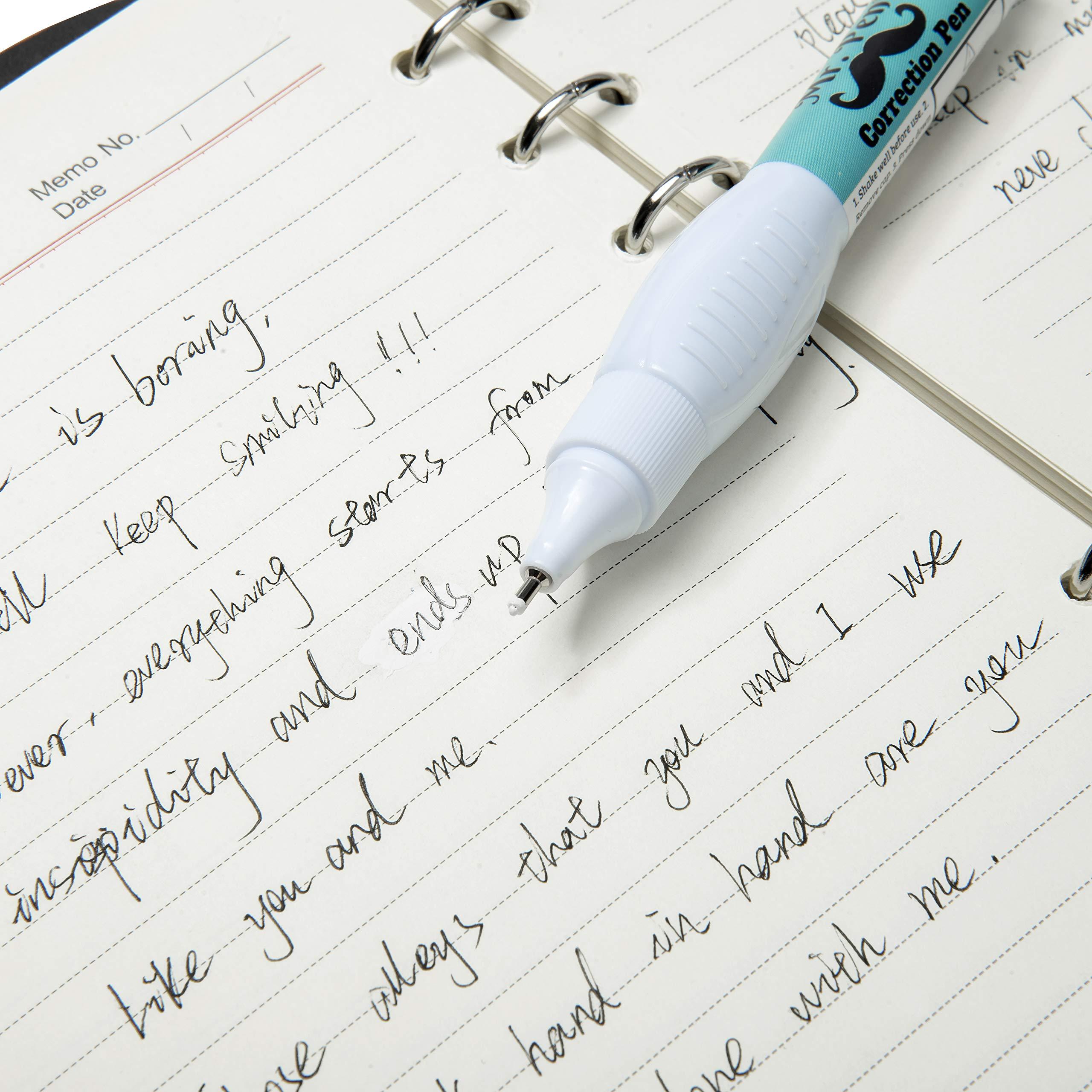 Mr. Pen- Correction Pen, Correction Fluid, Pack of 12, Correction liquid White, White Correction Fluid, White Fluid, White Out, Wipe Out Liquid, Wide Out Fluid, White Correction Tape Pen Fluid by Mr. Pen (Image #5)