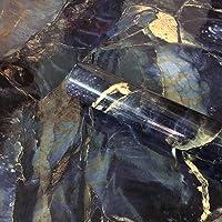 WDragon Glans Blauwe Steen Marmer Look Papier Graniet Effect Vinyl Wrap Keuken Aanrecht Zelfklevende Papier Peel Stick…