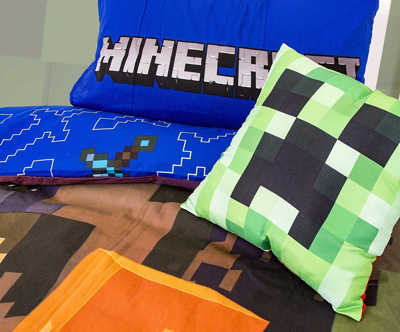 Minecraft Parure de Lit 'Good Guys/&rsquo Grand Motif Character World MNCGOODD001UK2
