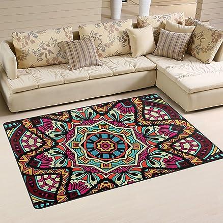 Coosu, tappeto antiscivolo con motivo astratto geometrico stile ...