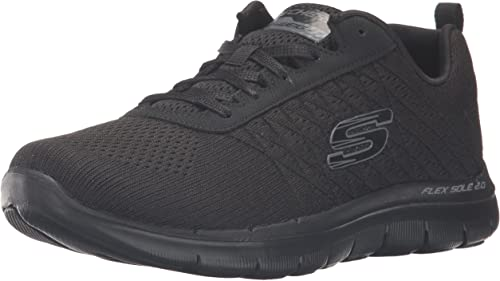 Skechers Damen Flex Appeal 2.0 Break Free Outdoor Fitnessschuhe, Schwarz, 37 EU