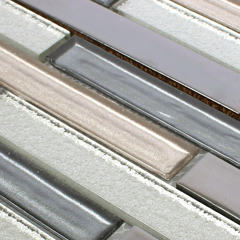 Ideal f/ür die K/üche und Badezimmer Glas-Mosaik Glas Keramik Mosaikfliesen Permoser Kupfer Weiss Mosaik-Fliesen Wandfliesen auch als Muster erh/ältlich Fliesen-Bord/üre