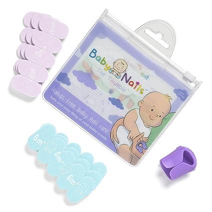 Lima de uñas para recien nacidos (0 meses +) I Cuidado de uñas bebé I Accesorio para recien nacidos y bebés I Regalo para mamás - Repuesto (3 x 5)