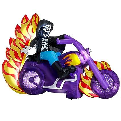 Amazon.com: Halloween Haunters 6 pies inflable esqueleto ...