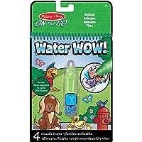 Melissa & Doug On the Go Water Wow! Animales (Bloc reutilizable de actividades revela con agua, pluma gruesa de agua)