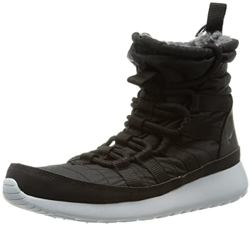 c6310ec14146 Nike Womens Roshe Run Hi Black Anthracite-Sail 615968-002 10  Amazon ...