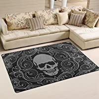 tapis salon tête de mort 11
