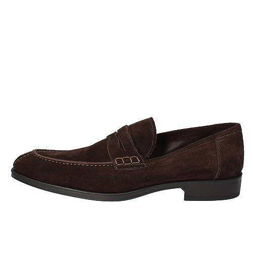 CAMPANILE - Mocasines de ante para hombre marrón marrón marrón Size: 44 EU: Amazon.es: Zapatos y complementos